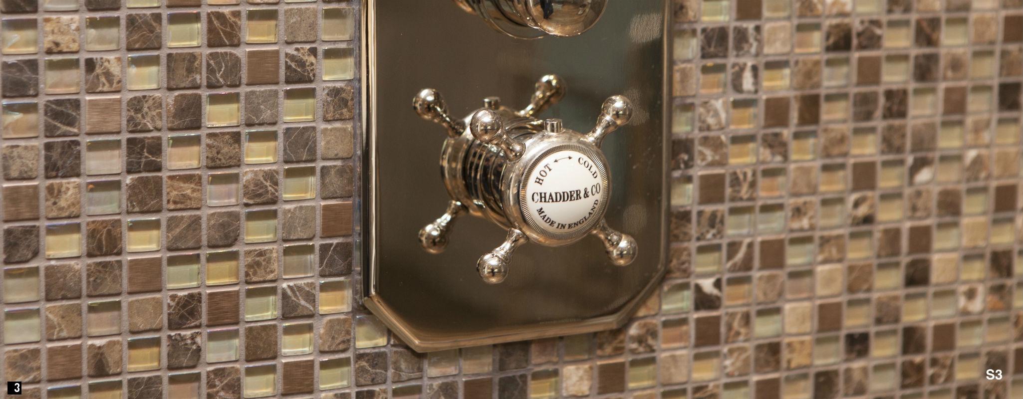 Nickel Vintage Shower, Thermostatic Traditional Shower ,Chadder Shower Valve Nickel Finish