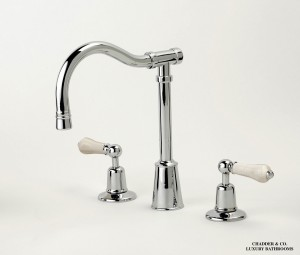 Hove Three Hole Kitchen Mixer