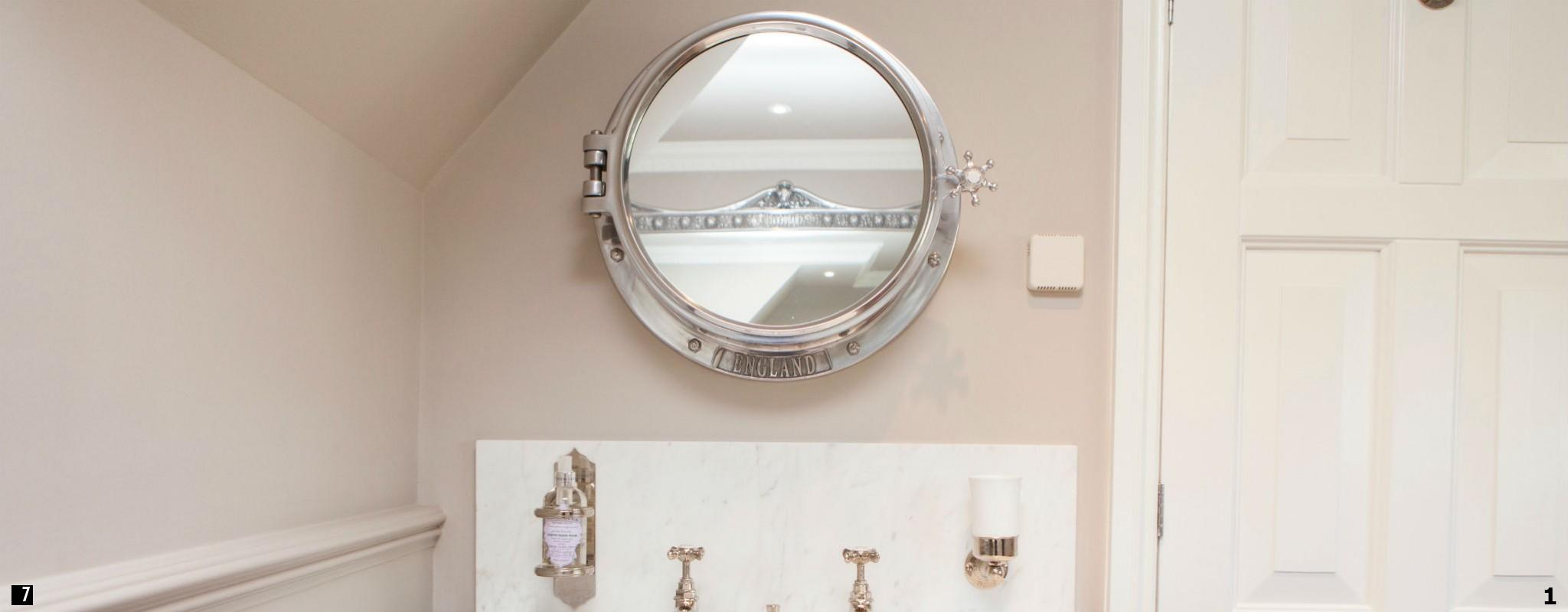 Porthole Mirror Cabinet , Porthole , Porthole Mirror , Porthole Mirror in Bathroom , Bathroom Porthole