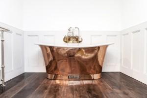 Royal Copper Bath with White Interior.