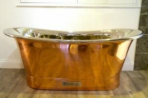 Paris Copper Bath with Nickel Interior