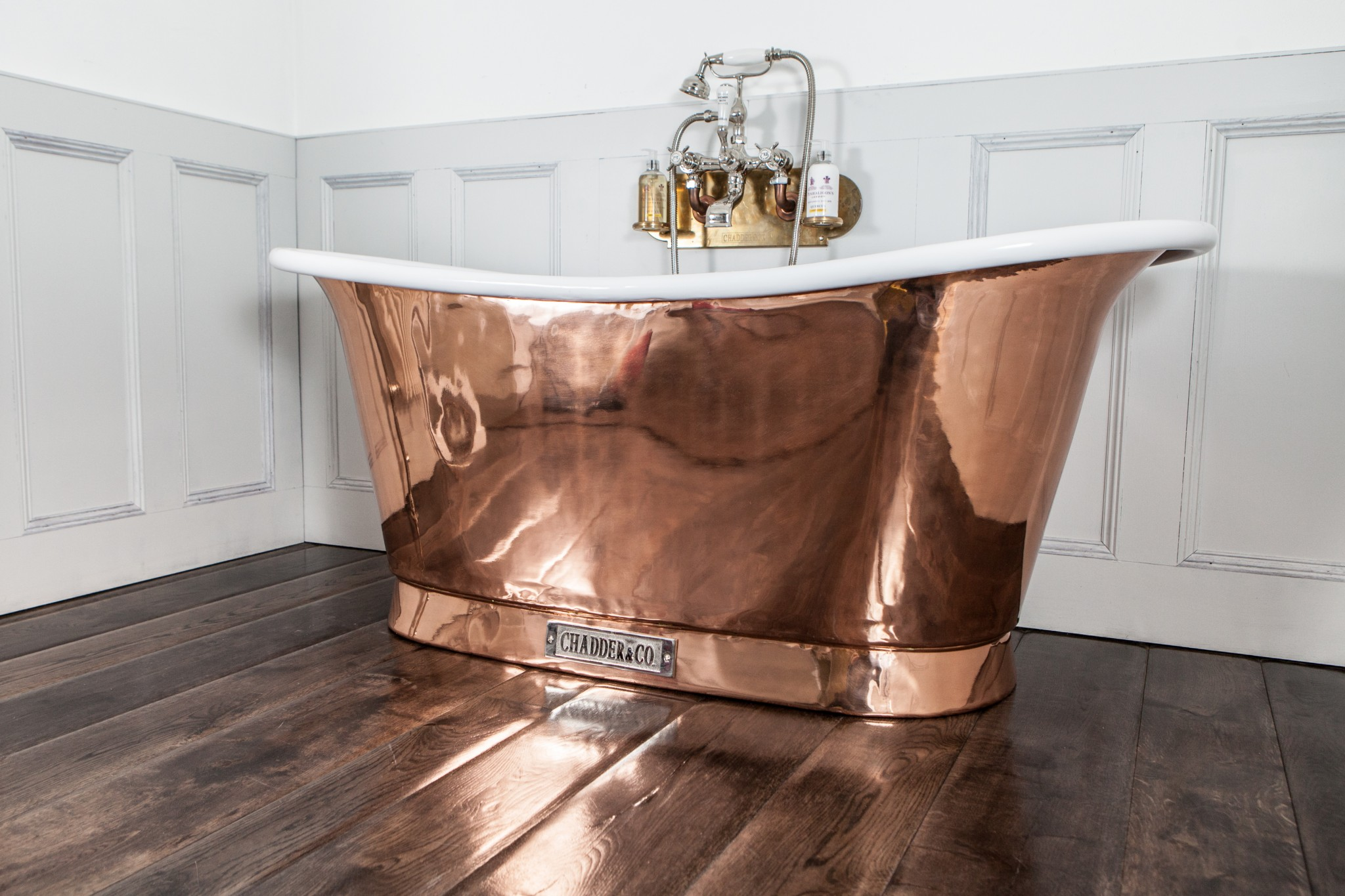 copper bath copper tub antique bath luxury bath chadder bath filler nickel bath tap