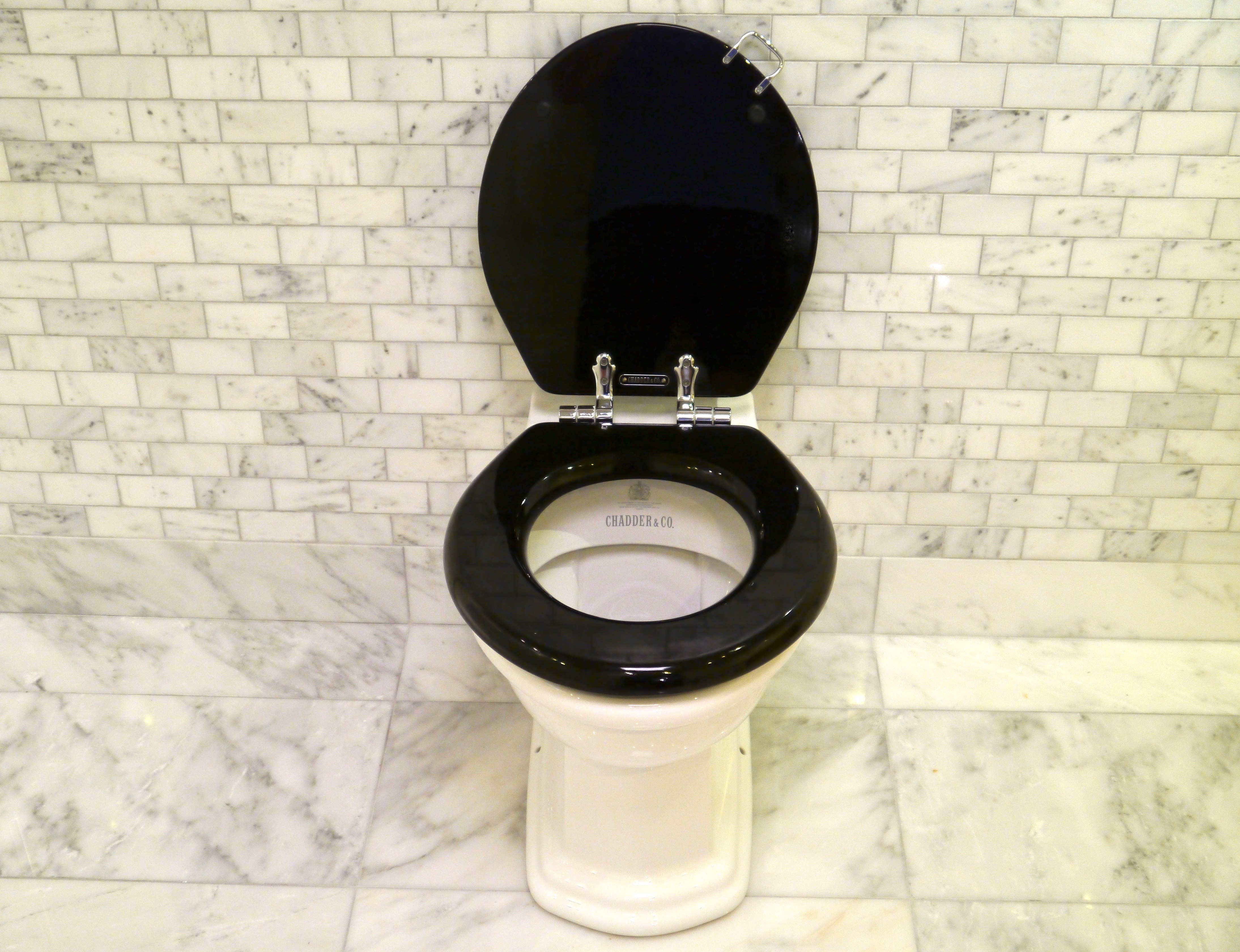 cloakroom toilet suit black seat back to wall pan