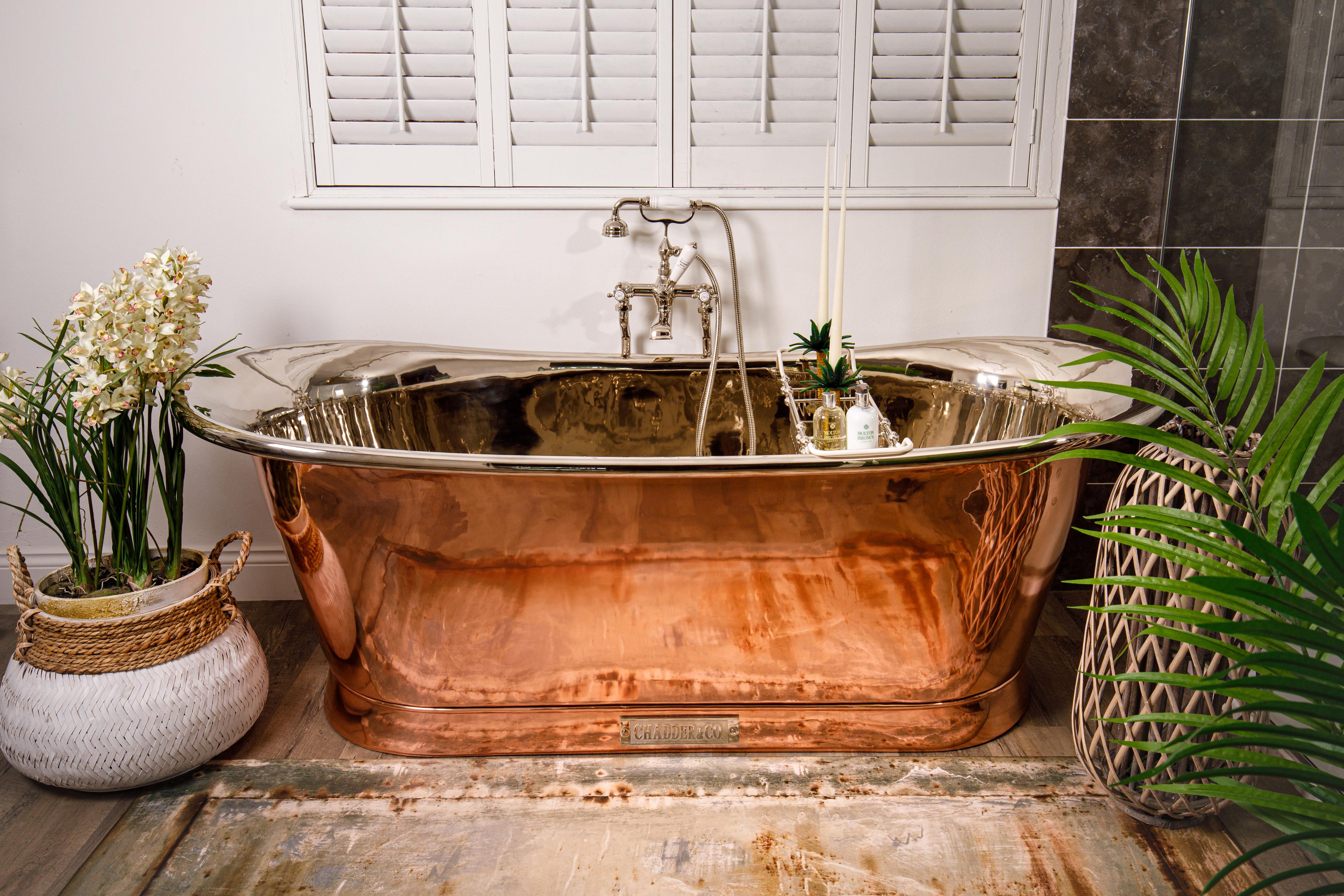 copper bath freestanding bathtub victorian bath