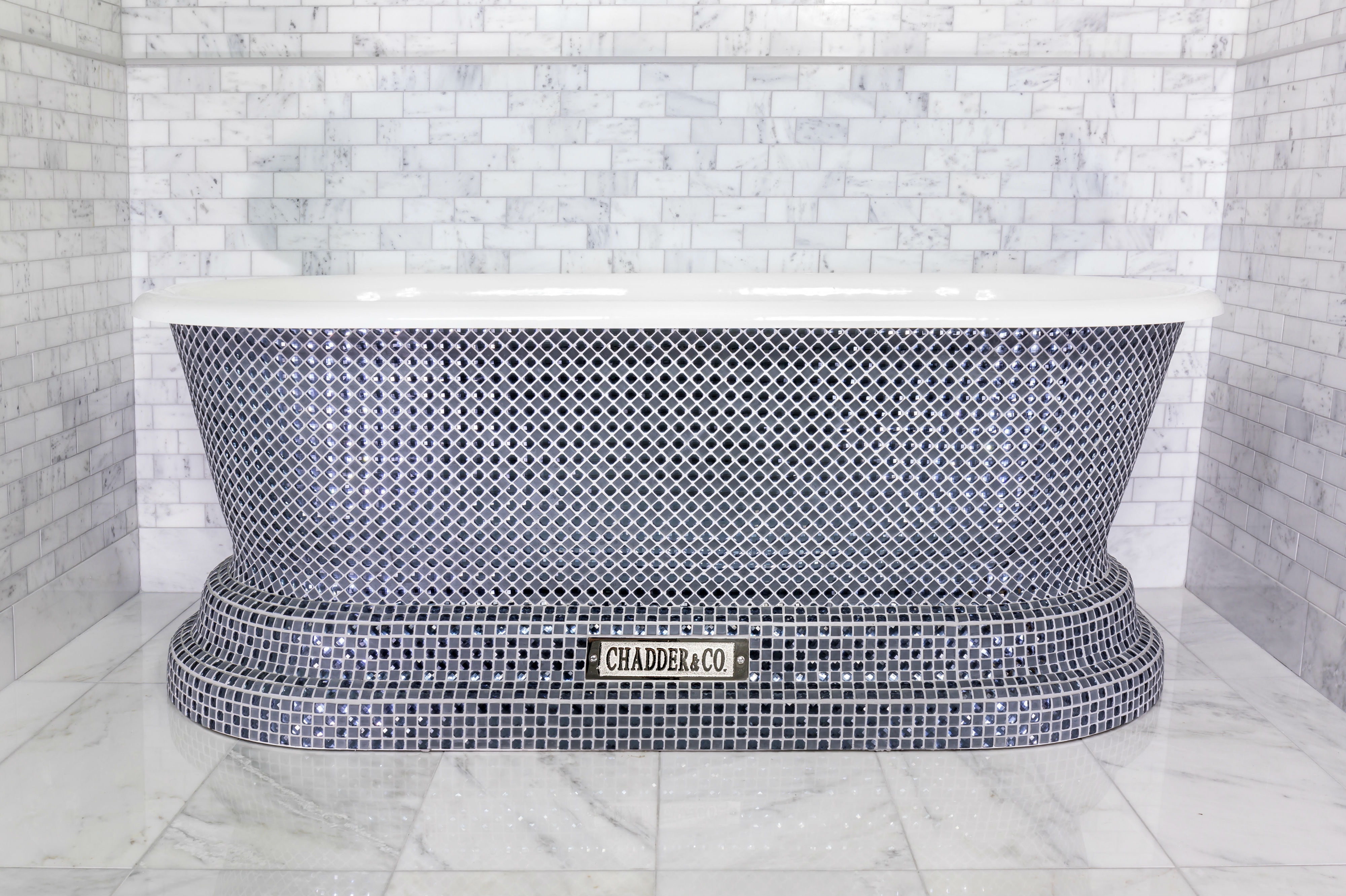 crystal bath tub mosaic bath luxury bathroom deisgn