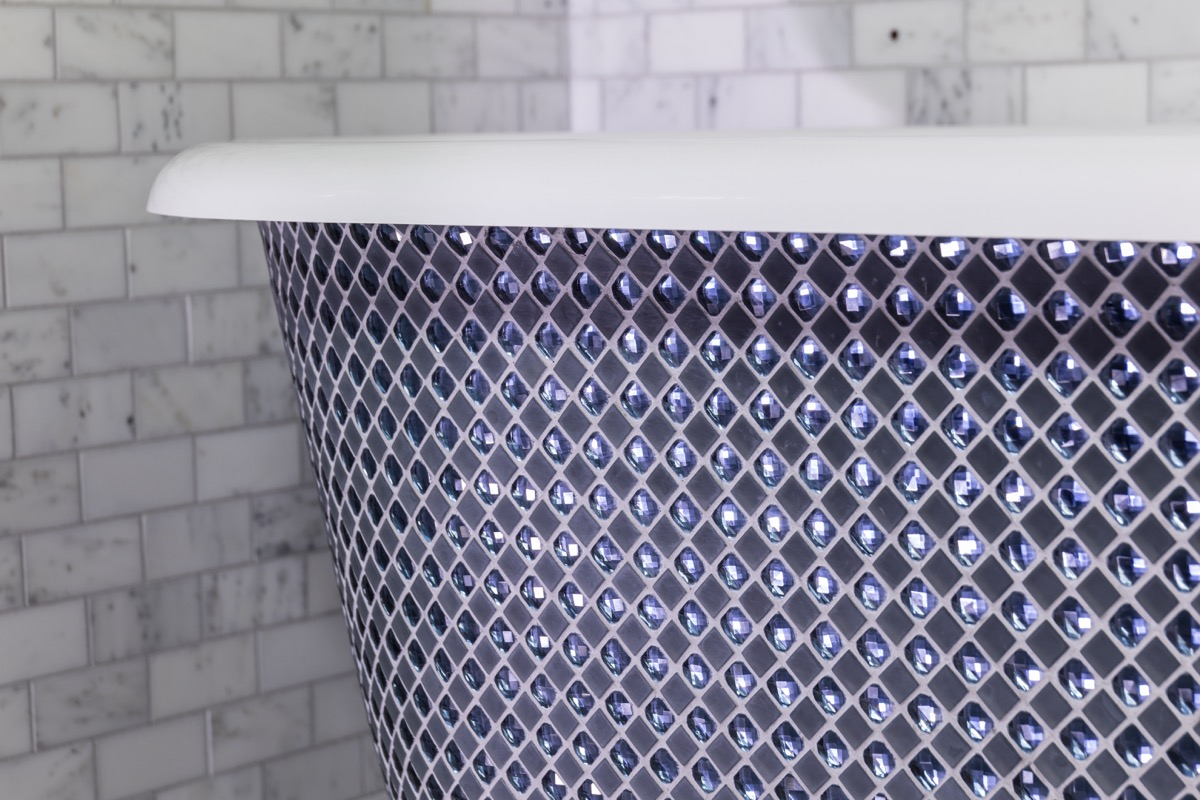 crystal mosaic bath luxury bath free standing bathtub chadder and co