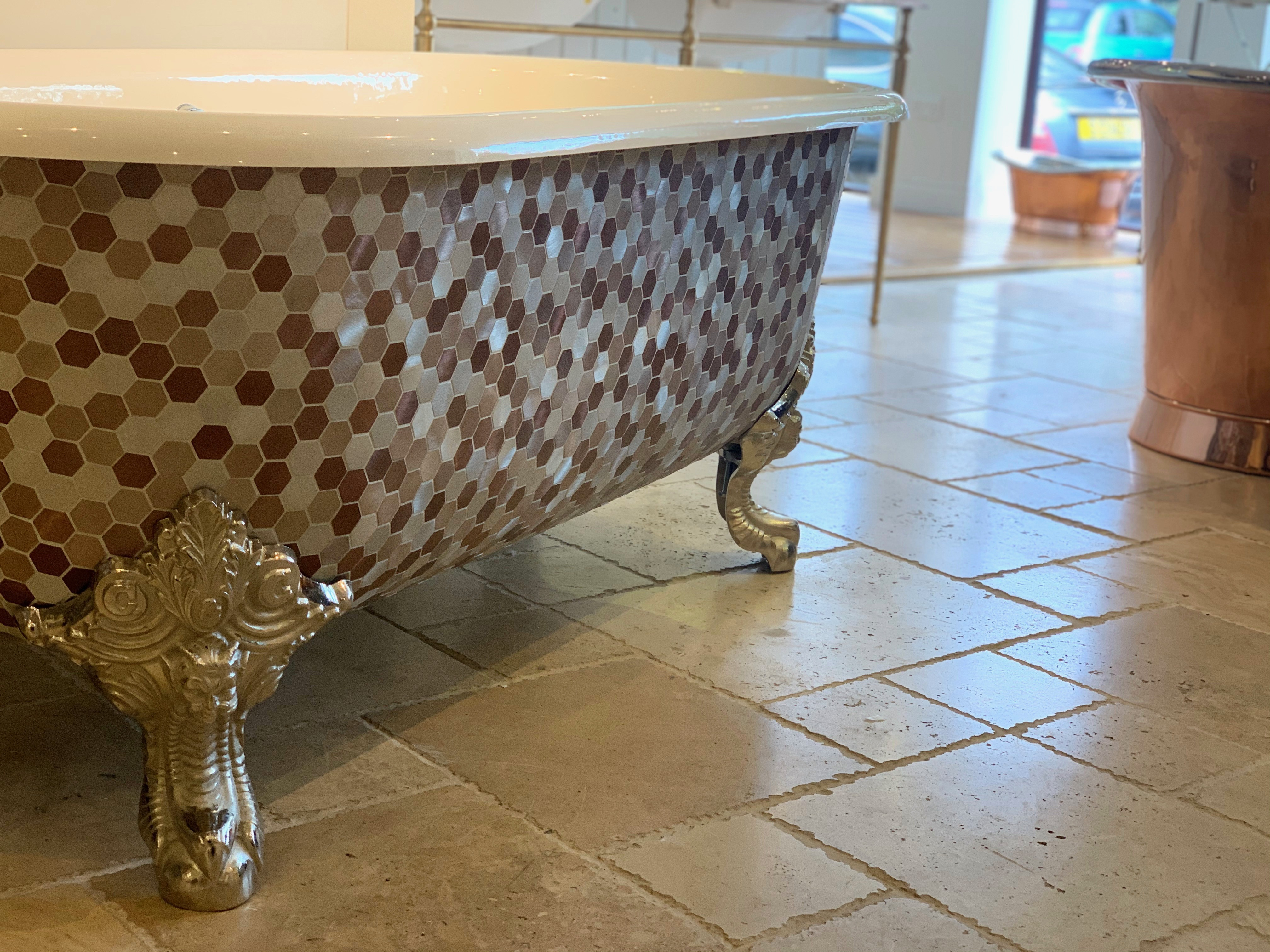 doubled ended roll top bathmosaic chadder and co