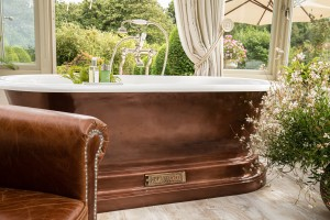 Genuine Copper effect exterior on Chadite Baths