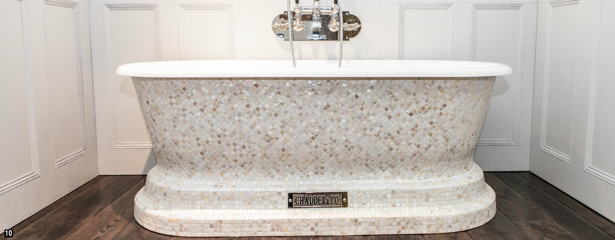 Mosaic Chadder Bath with Chadder Mosaics ,  Mother of Pearl Mosaic Bath , Bespoke Mosaic Chadder Bath