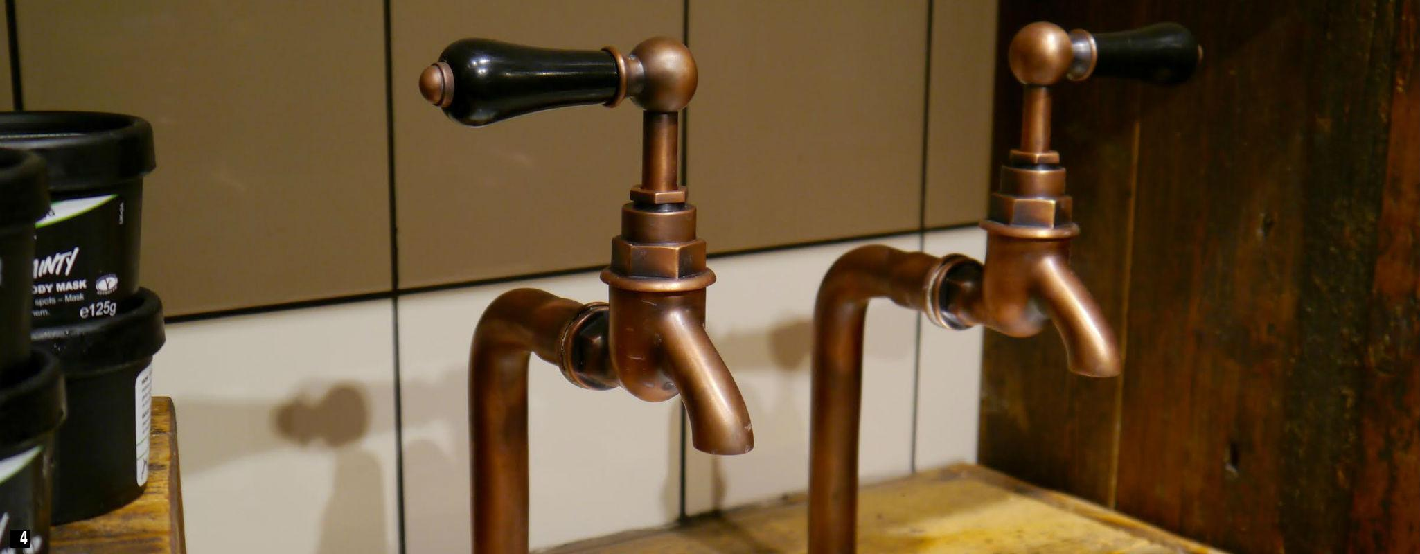 Bib Taps , Kitchen Bib Taps , Wall Bib Taps , Weathered Copper Bib Taps ,  Copper Bib Taps