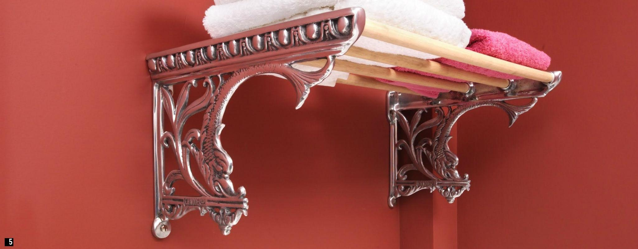 Traditional Towel Holder , Luxury Bathroom Accessories , Bespoke Cisterns, Bespoke Metal Cistern