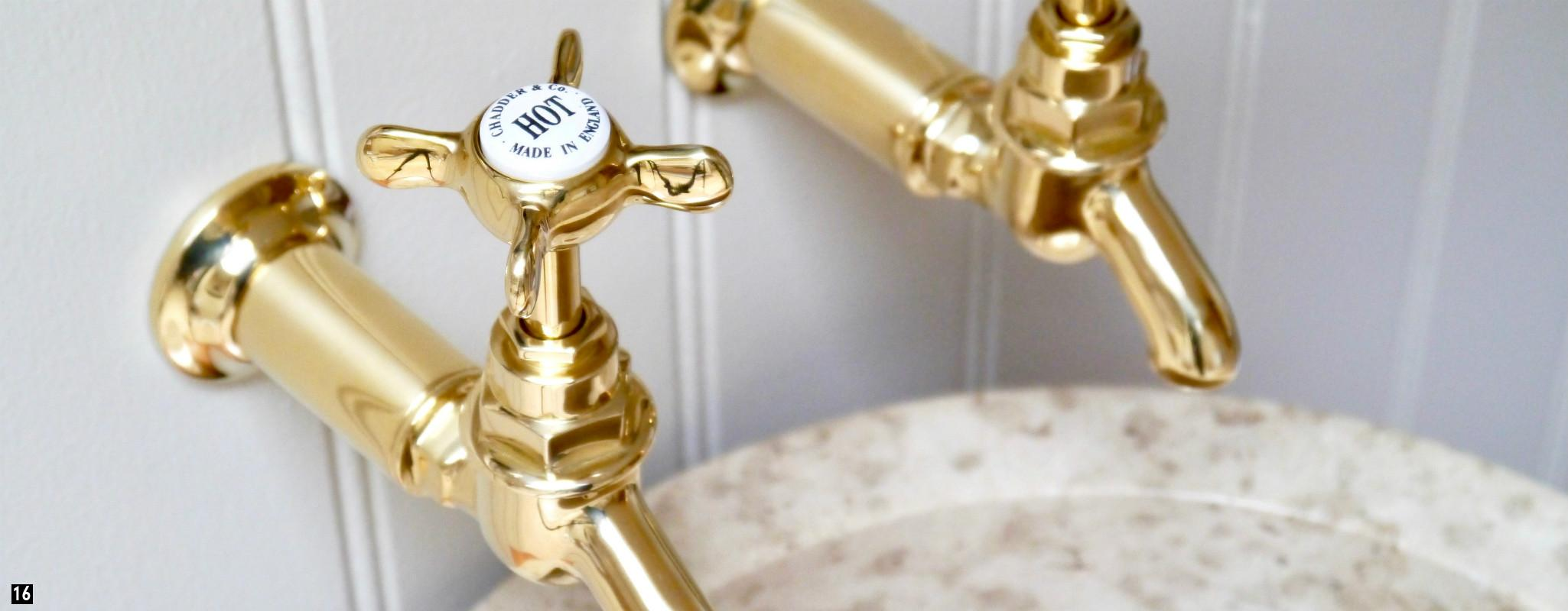 Brass Taps, Brass Kitchen Taps , Brass Bib Taps , Vintage Brass Bath Taps